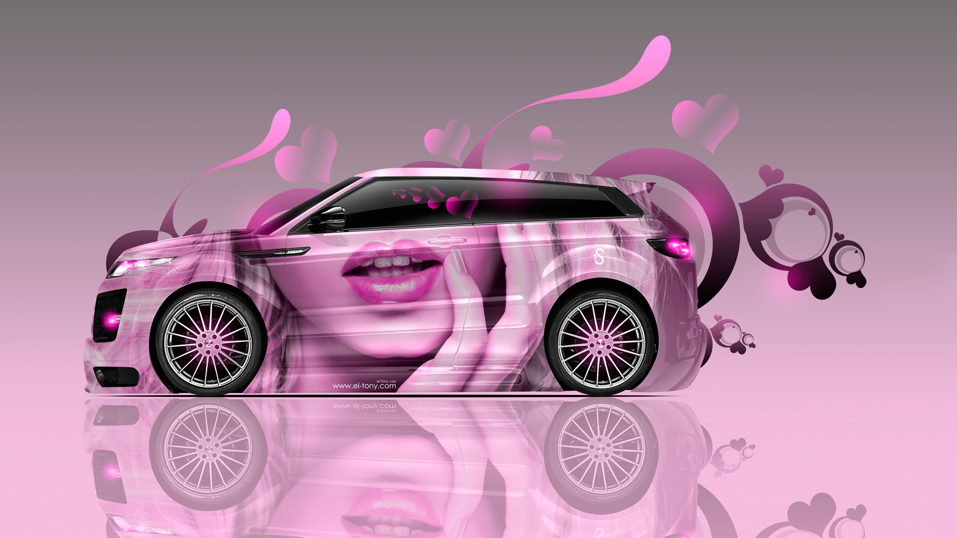 ... Land Rover Evoque Side Glamour Girl Lips Aerography Car 2014