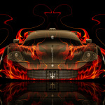 Maserati MC12 Front Fire Abstract Car 2014