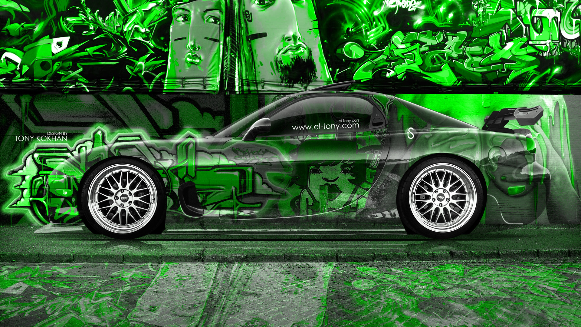 Mazda Rx7 Jdm Side Crystal Graffiti Car 2014 El Tony