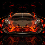 McLaren MP4-12C Front Fire Abstract Car 2014