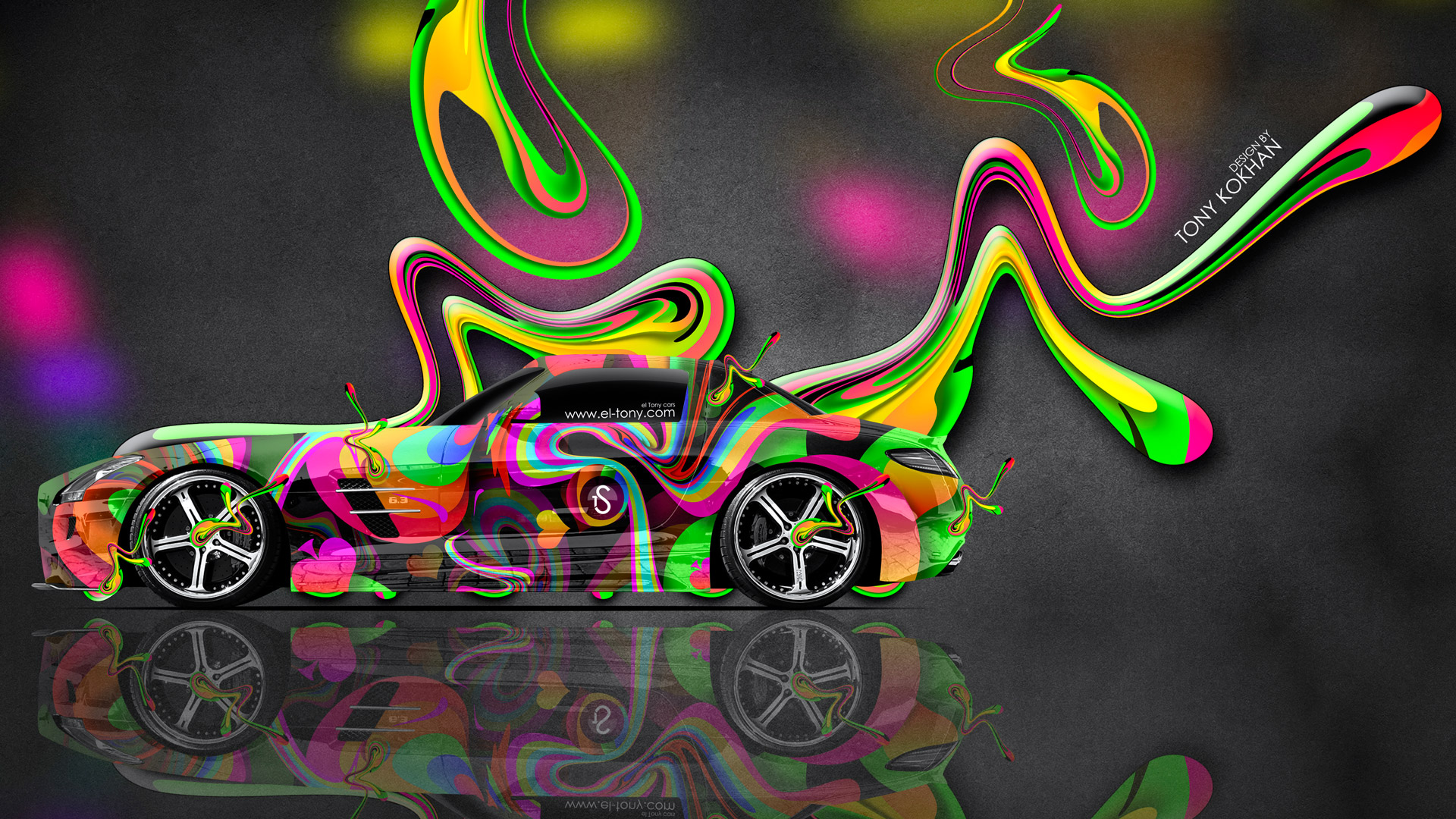 Mercedes-Benz-SLS-AMG-Side-Super-Abstract-Aerography-Plastic-Car-2014-Art-Multicolors-HD-Wallpapers-desig-by-Tony-Kokhan-[www.el-tony.com]