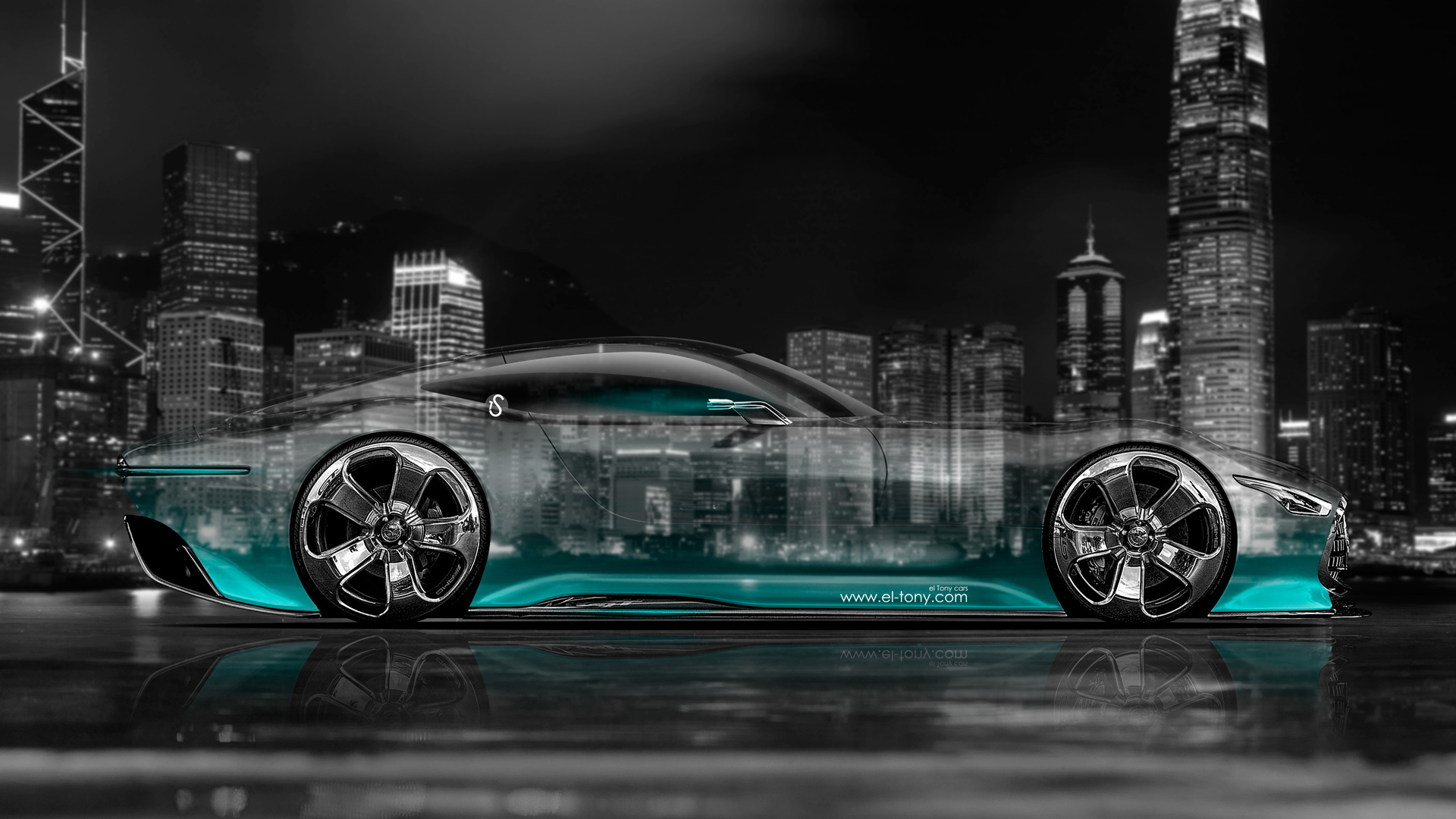 Mercedes Benz Vision Gran Turismo Side Crystal City
