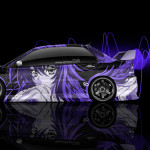 Mitsubishi Lancer Evolution JDM Side Anime Aerography Car 2014