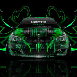Monster Energy BMW M5 Front Plastic Car 2014