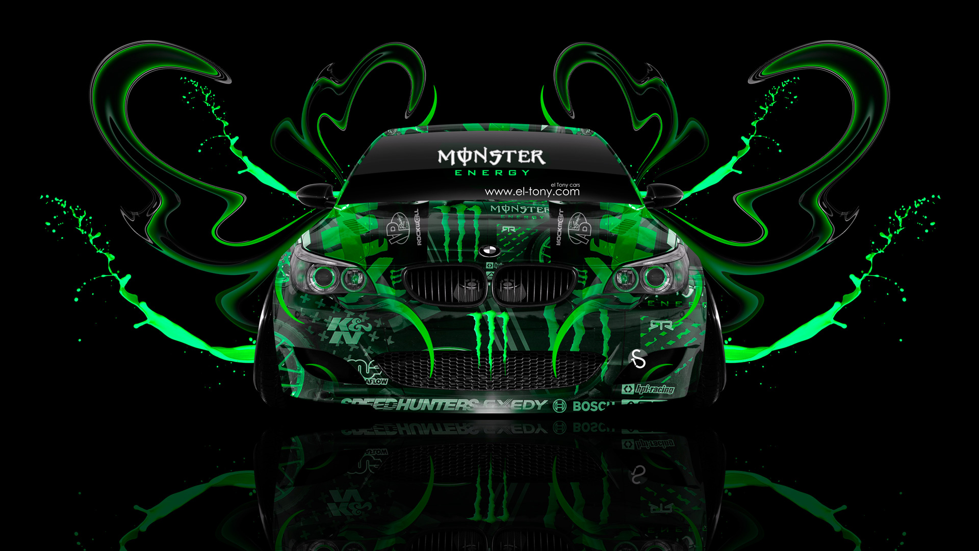 Attrayant Monster Energy BMW M5 Front Plastic Acid Car