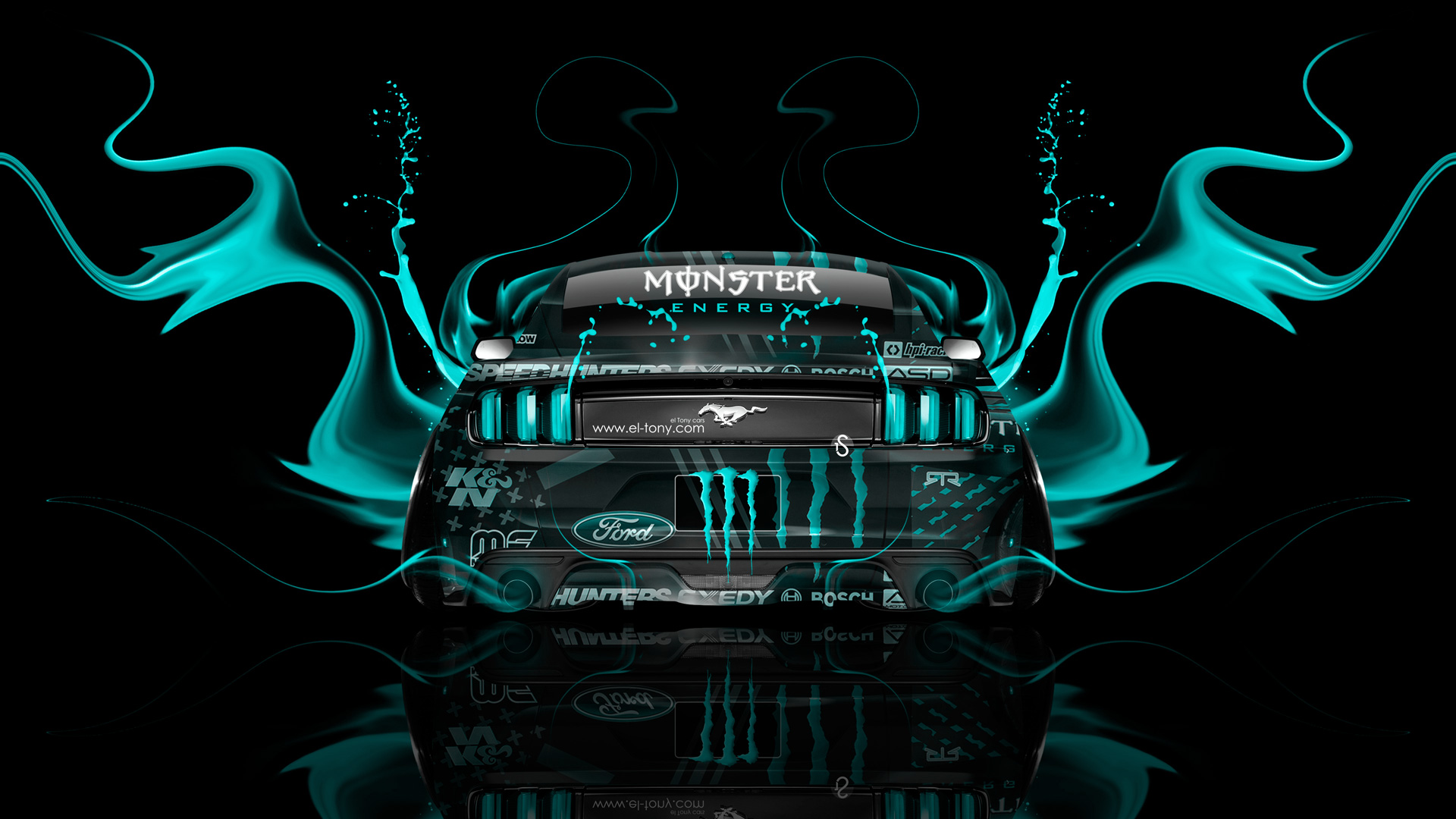 Merveilleux ... Monster Energy Ford Mustang Muscle Back Fire Acid