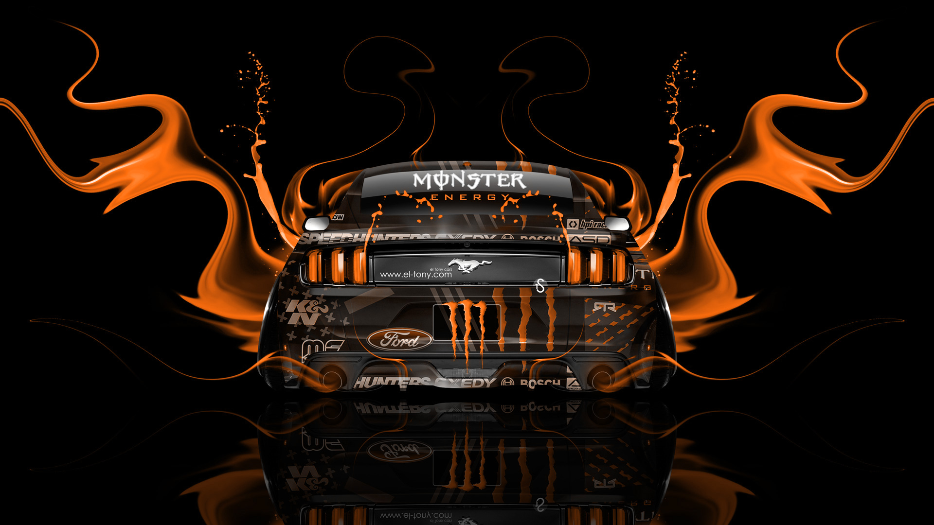 ... Monster Energy Ford Mustang Muscle Back Fire Acid  ...