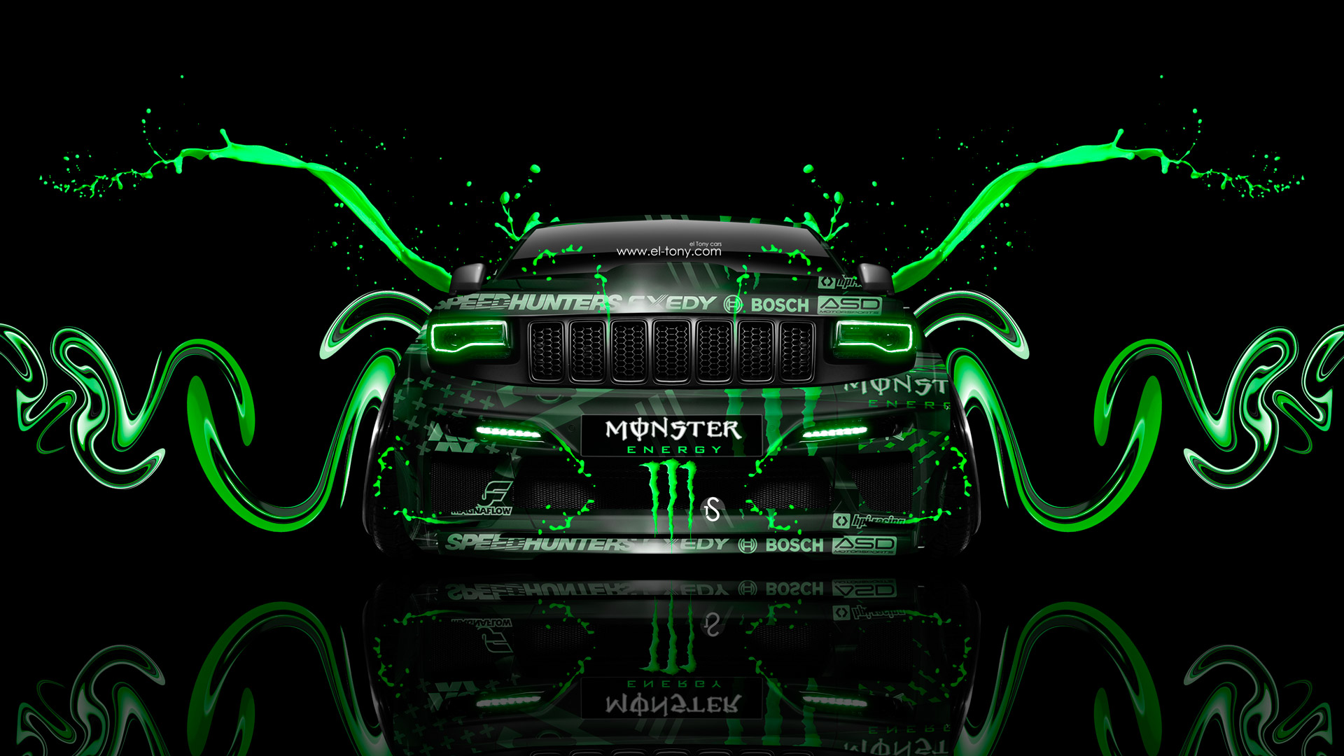 Monster Energy Jeep Grand Cherokee SRT8 Art Front