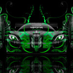 Monster Energy Koenigsegg Agera Front Fantasy Plastic Car 2014