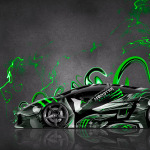 Monster Energy Lamborghini Gallardo Side Plastic Car 2014