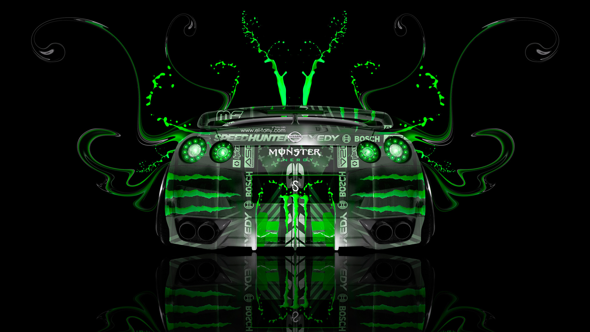 Delicieux Monster Energy Nissan GTR R35 Fantasy Back Plastic