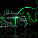Monster Energy Nissan Juke-R Side Plastic Car 2014