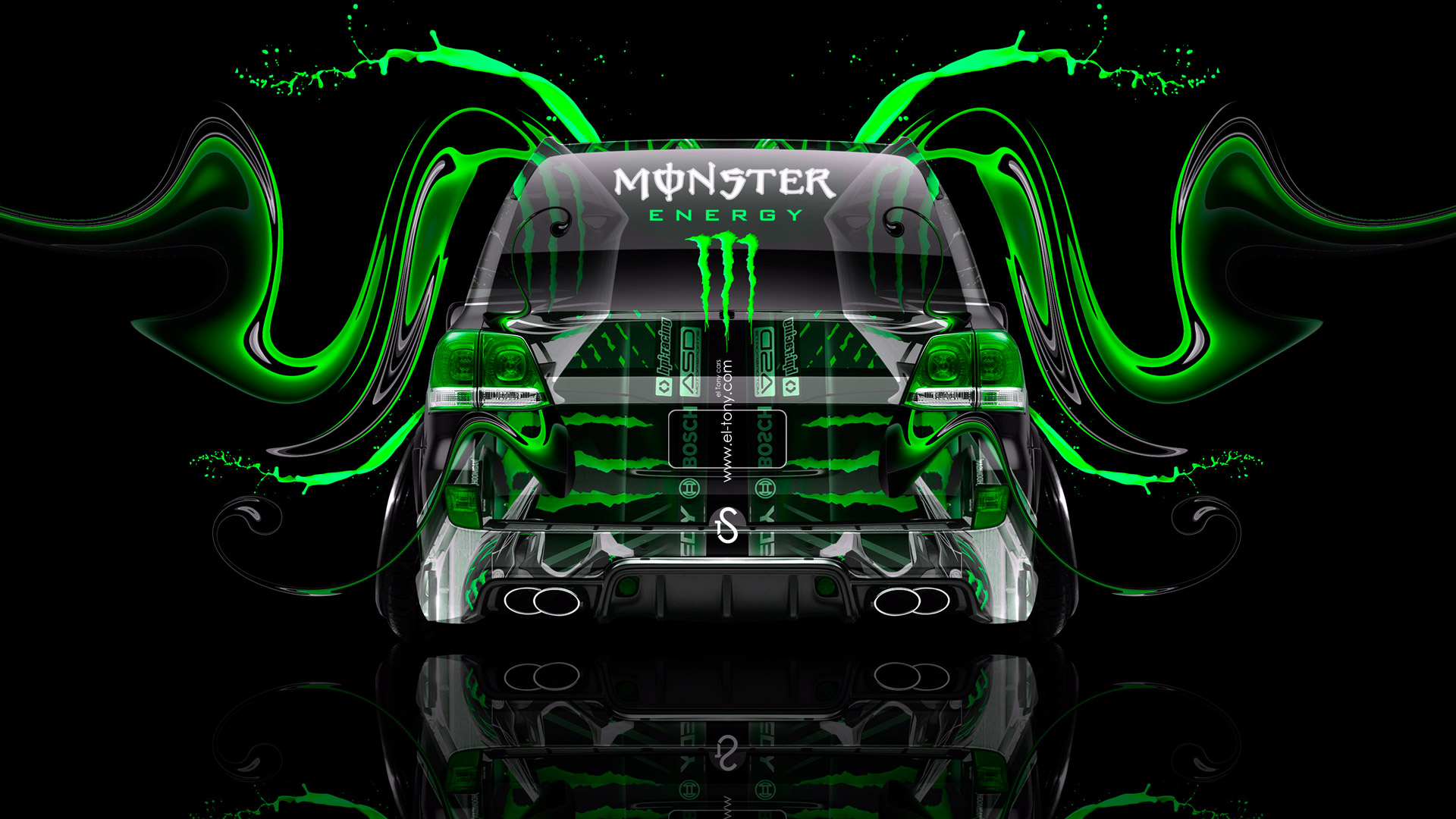 Monster Energy Toyota Land Cruiser 200 JDM Tuning