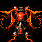 Suzuki Hayabusa BackUp Super Fire Abstract Bike 2014