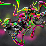 Suzuki Hayabusa Side Super Abstract Aerography Plastic Bike 2014