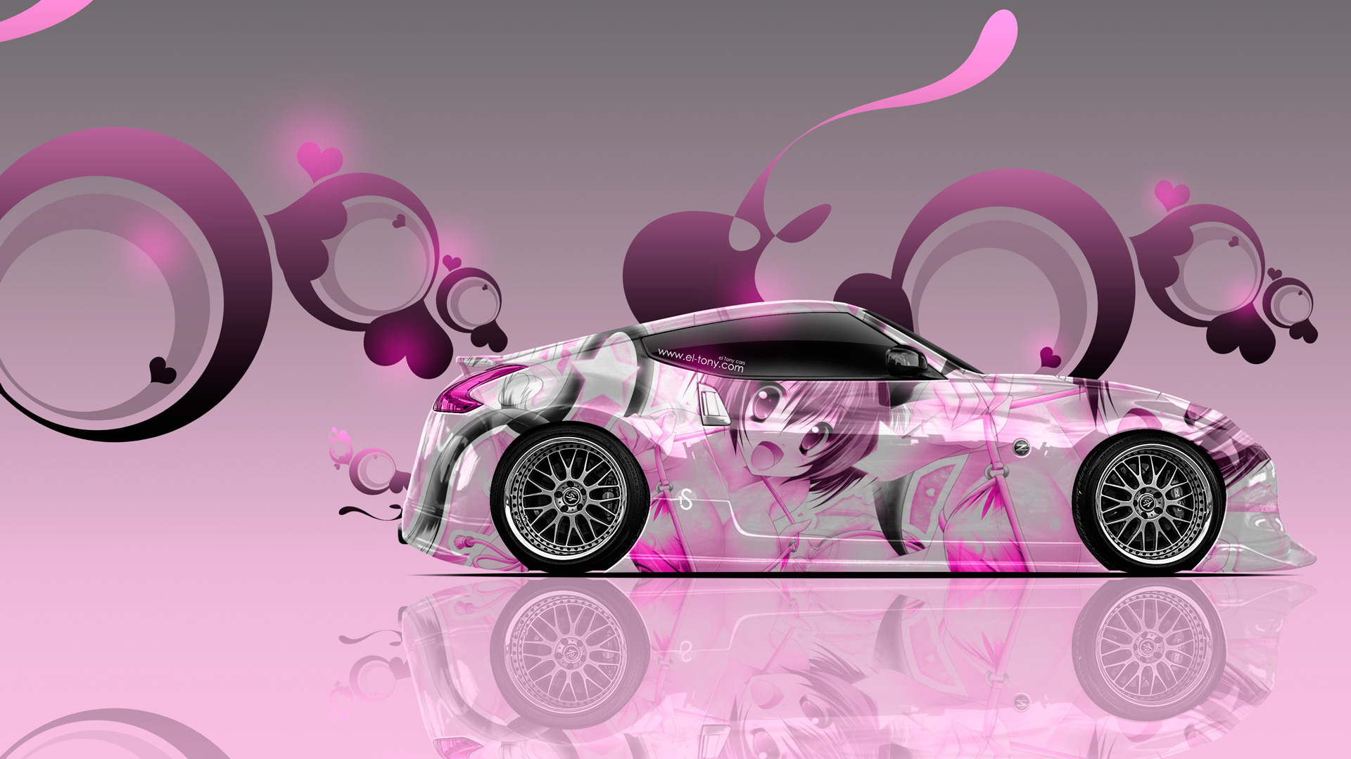 Nissan-370Z-JDM-Side-Anime-Aerography-Car-2014-Pink-Soft-Image-HD-Wallpapers-design-by-Tony-Kokhan-[www.el-tony.com]