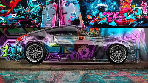 Nissan-370Z-JDM-Side-Crystal-Graffiti-Car-2014-Multicolors-HD-Wallpapers-design-by-Tony-Kokhan-[www.el-tony.com]