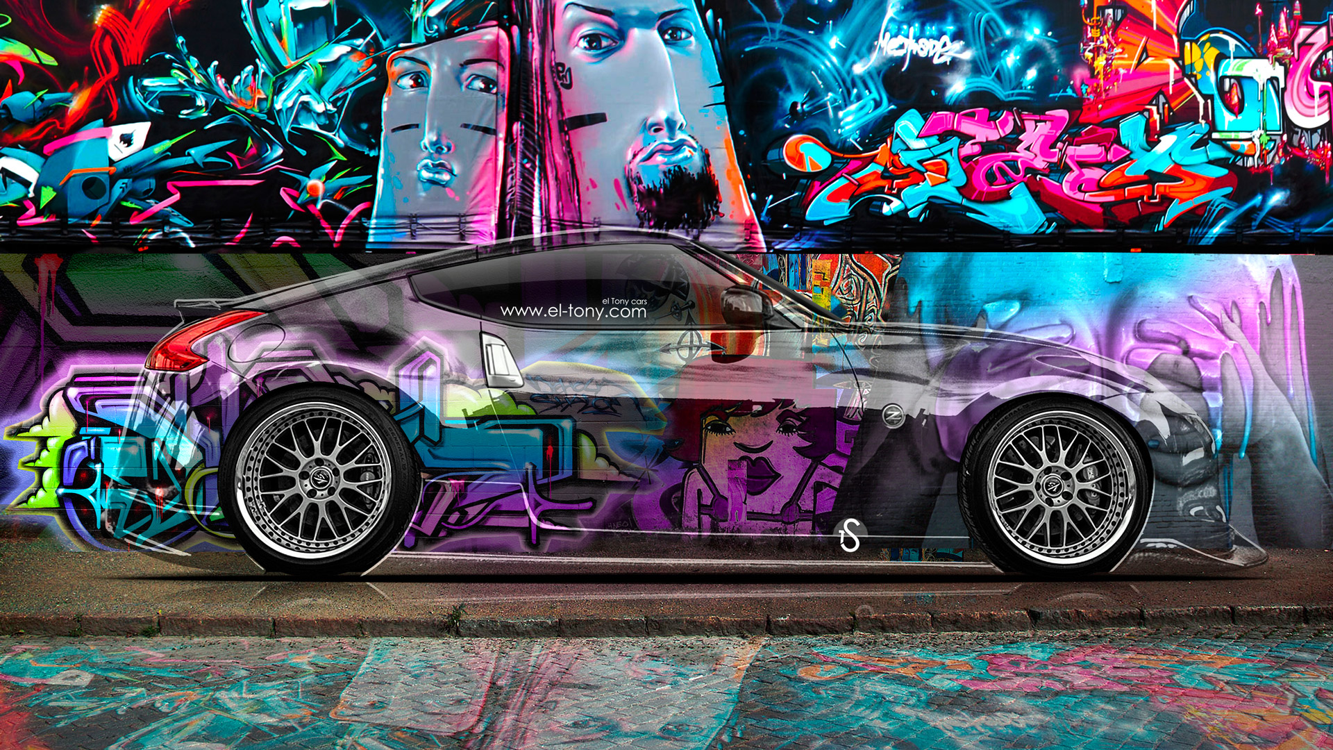 Nissan 370Z JDM Side Crystal Graffiti Car 2014