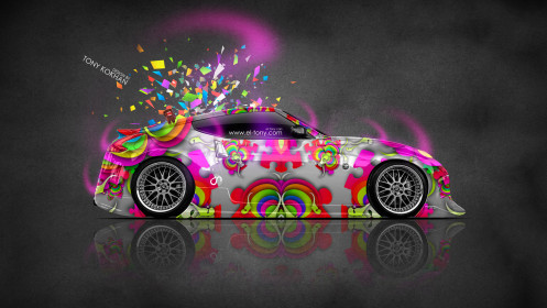 Nissan-370Z-JDM-Side-Domo-Kun-Toy-Car-2014-Multicolors-HD-Wallpapers-design-by-Tony-Kokhan-[www.el-tony.com]