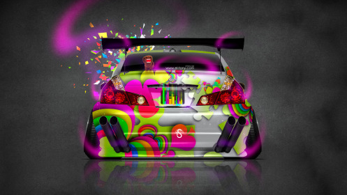 Nissan-Fuga-JDM-Tuning-Back-Domo-Kun-Toy-Car-2014-Art-Multicolors-HD-Wallpapers-design-by-Tony-Kokhan-[www.el-tony.com]
