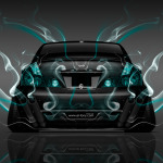 Nissan Fuga JDM Tuning Back Smoke Car 2014