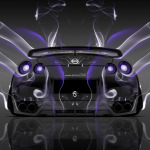 Nissan GTR R35 Back Smoke Car 2014