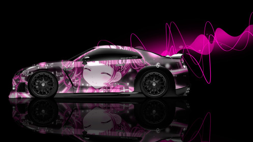 Nissan-GTR-R35-Side-Anime-Aerography-Girl-Car-2014-Pink-Effects-HD-Wallpapers-design-by-Tony-Kokhan-[www.el-tony.com]
