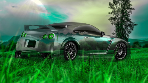 Nissan-GTR-R35-Tuning-Crystal-Nature-Car-2014-HD-Wallpapers-design-by-Tony-Kokhan-[www.el-tony.com]