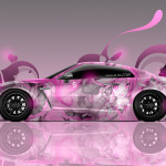 Nissan GTR R35 Tuning Side Anime Aerography Car 2014