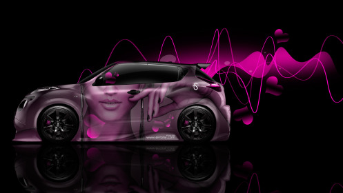 Nissan-Juke-R-Side-Glamour-Style-Girl-Hand-Lips-Aerography-Heart-Car-2014-Pink-Effects-HD-Wallpapers-design-by-Tony-Kokhan-[www.el-tony.com]
