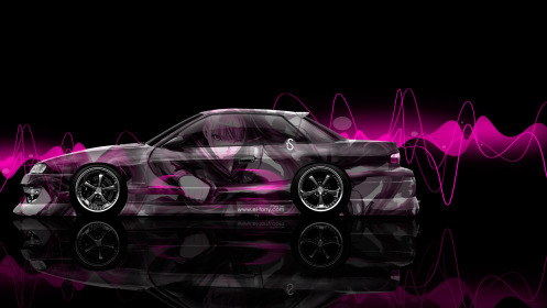 Nissan-Silvia-S13-JDM-Side-Anime-Aerography-Car-2014-Pink-Effects-HD-Wallpapers-design-by-Tony-Kokhan-[www.el-tony.com]