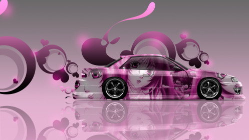 Nissan-Silvia-S13-JDM-Side-Anime-Aerography-Car-2014-Pink-Soft-Image-2014-HD-Wallpapers-design-by-Tony-Kokhan-[www.el-tony.com]