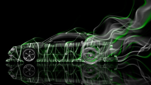 Nissan-Silvia-S13-JDM-Side-Smoke-Drift-Car-2014-Green-Neon-HD-Wallpapers-design-by-Tony-Kokhan-[www.el-tony.com]