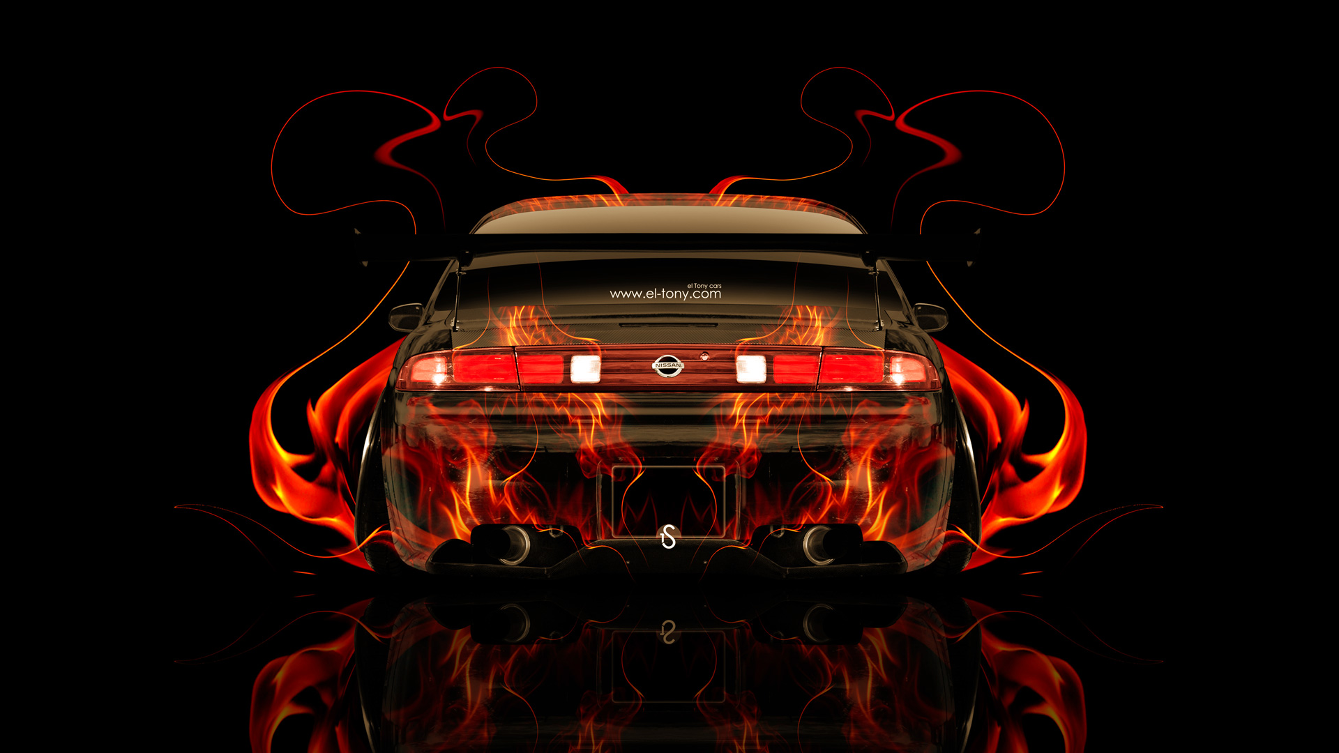 Merveilleux Nissan Silvia S14 JDM Back Fire Abstract Car