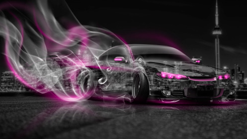 Nissan-Silvia-S15-JDM-Crystal-City-Drift-Smoke-Car-2014-Pink-Neon-HD-Wallpapers-design-by-Tony-Kokhan-[www.el-tony.com]
