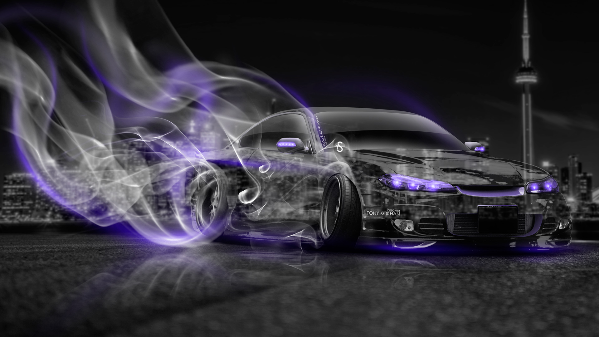 Superb Nissan Silvia S15 JDM Crystal City Drift Smoke