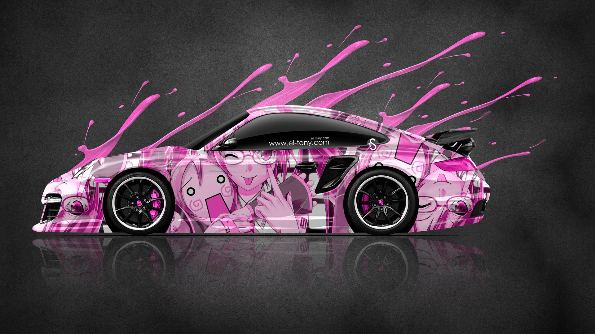 porsche 911 gt2 anime aerography live colors car 2014 el tony. Black Bedroom Furniture Sets. Home Design Ideas