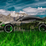 Porsche 911 GT2 Side Crystal Nature Car 2014