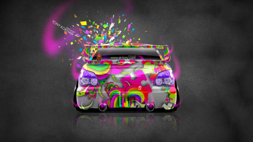 Subaru-Impreza-WRX-STI-JDM-Back-Domo-Kun-Toy-Car-2014-Multicolors-HD-Wallpapers-design-by-Tony-Kokhan-[www.el-tony.com]