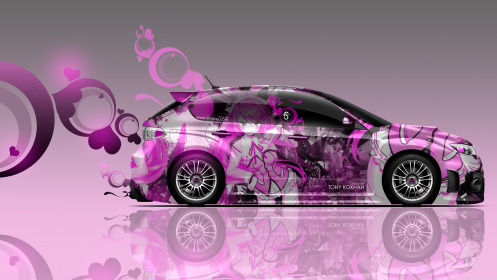 Subaru-Impreza-WRX-STI-JDM-Side-Anime-Aerography-Girl-Car-2014-Pink-Soft-Image-2014-design-by-Tony-Kokhan-[www.el-tony.com]