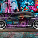 Subaru Impreza WRX STI Side Crystal Graffiti Car 2014