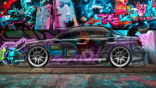 Subaru-Impreza-WRX-STI-Side-Crystal-Graffiti-Car-2014-Multicolors-Art-HD-Wallpapers-design-by-Tony-Kokhan-[www.el-tony.com]