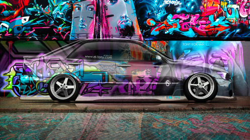 Toyota-Altezza-JDM-Side-Crystal-Graffiti-Car-2014-Art-Multicolors-HD-Wallpapers-design-by-Tony-Kokhan-[www.el-tony.com]