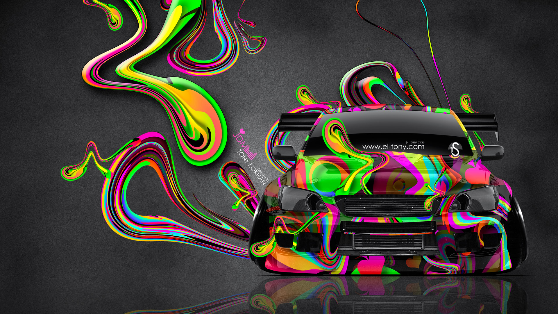 Toyota Altezza JDM Tuning Front Super Plastic Abstract