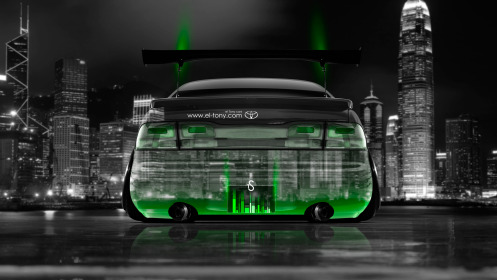Toyota-Aristo-JDM-Back-Crystal-City-Car-2014-Green-Neon-HD-Wallpapers-design-by-Tony-Kokhan-[www.el-tony.com]