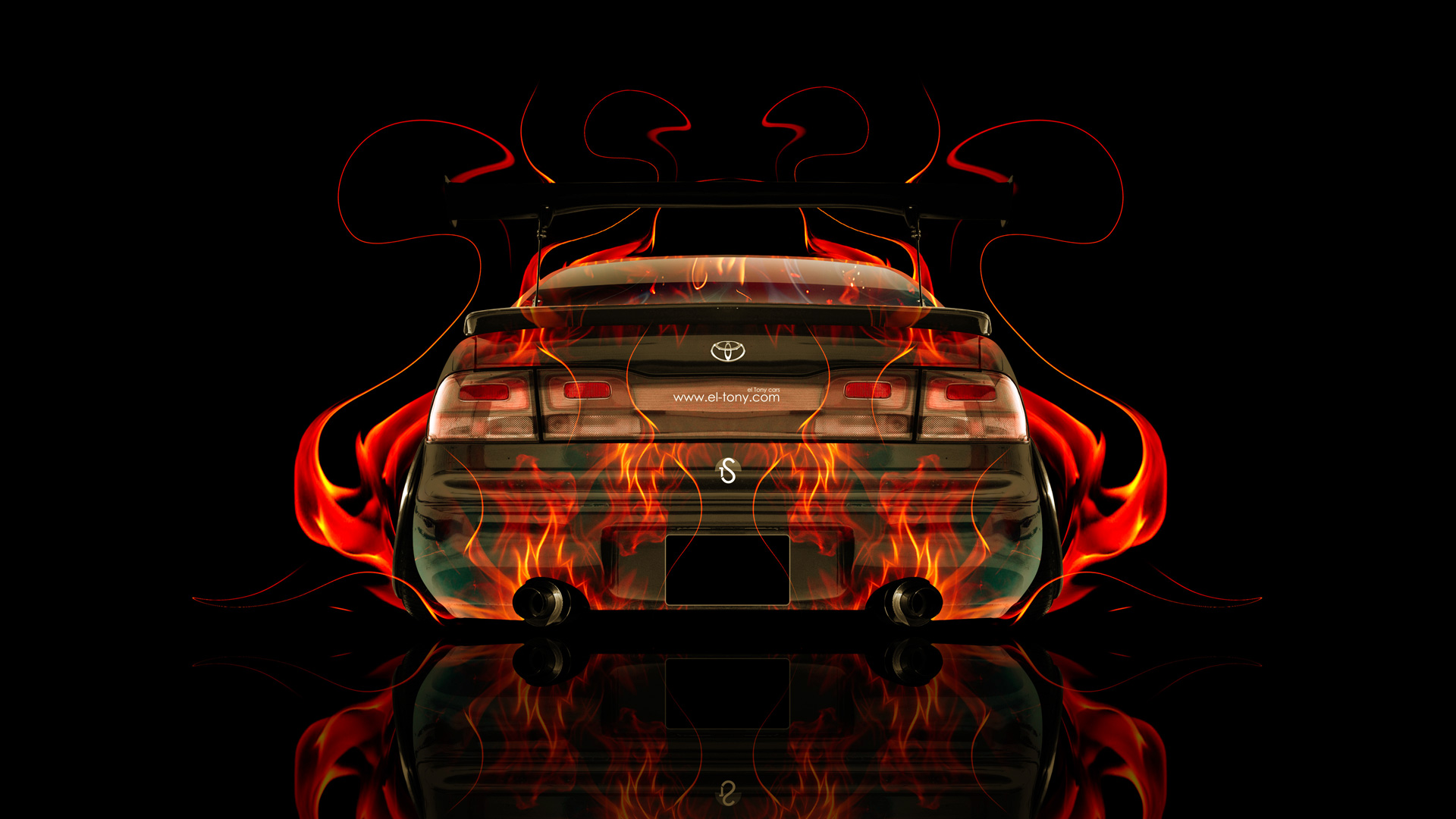Toyota Aristo JDM Back Fire Abstract Car 2014
