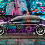 Toyota Aristo JDM Side Crystal Graffiti Car 2014