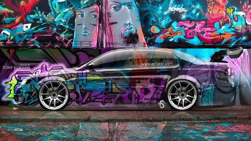 Toyota-Aristo-JDM-Side-Crystal-Graffiti-Car-2014-Art-Multicolors-HD-Wallpapers-design-by-Tony-Kokhan-[www.el-tony.com]