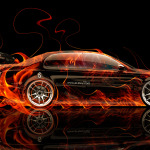 Toyota Aristo JDM Side Fire Abstract Car 2014