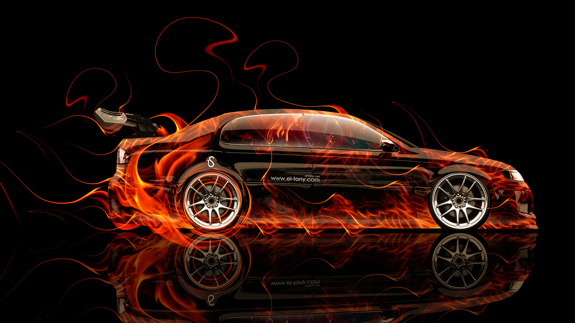 Superieur Toyota Aristo JDM Side Fire Abstract Car 2014
